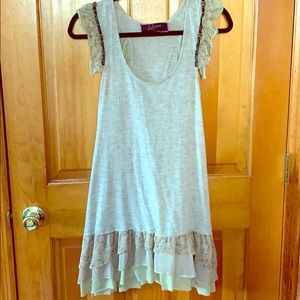 Luluvia Tan Racerback Dress